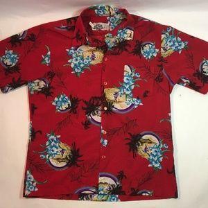 Vintage 70s Hilo Hattie Hawaiian Floral Shirt